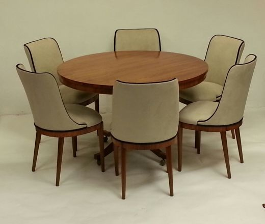 SOLD Art Deco Dining Tables ART DECO DINING TABLE AND SIX CHAIRS (item  #1338)