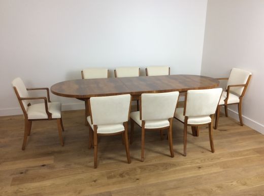 SOLD Art Deco Dining Table And Chairs ART DECO DINING TABLE AND EIGHT CHAIRS Item